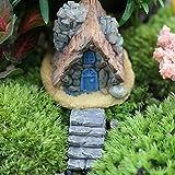 keepingup 1Stück zufällige Muster Stein House Miniatur Fairy Garden Craft Micro Landschaft Dekoration