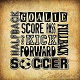Best Foot Forward Signs - Soccer Goalie Halfback Kick Forward Square Aluminum Metal Review