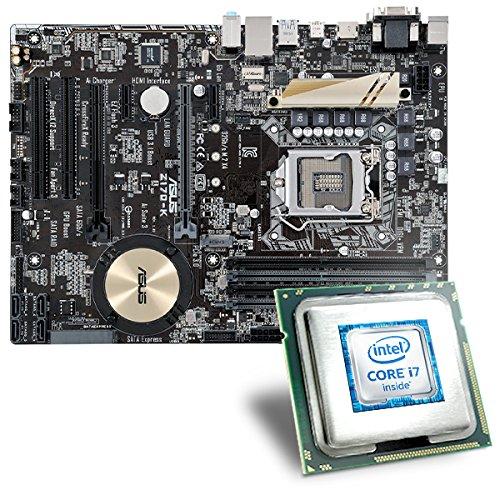 Intel Core i7-6700 / ASUS Z170-K Mainboard Bundle | CSL PC Aufrüstkit | Intel Core i7-6700 4x 3400 MHz, Intel HD Graphics 530, GigLAN, 7.1 Sound, USB 3.1 | Aufrüstset | PC Tuning Kit