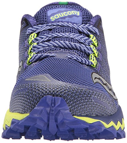 Saucony Womens Peregrine 7 Trail Running Shoe Blue Citron