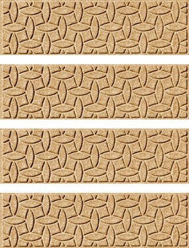 Bungalow Flooring Aqua Shield Ellipse Stair Treads, Set of 4, Gold