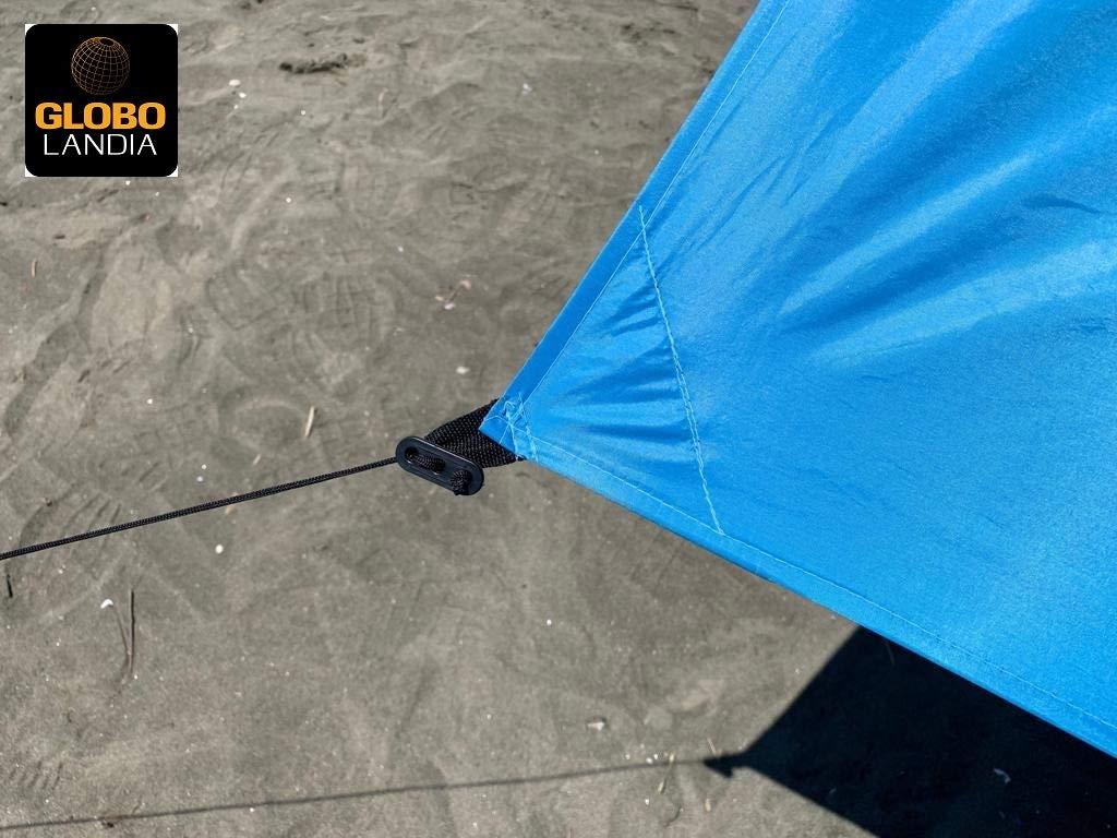 Ombrellone Piccolo Da Spiaggia.Globolandia 95117 Tenda Da Spiaggia Con Tettuccio Parasole 2x2m Portatile Ombrellone Vela Parasole Anti Uv Con Ancoraggio Sacchetti Di Sabbia Per Il