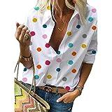 Derrick Aled(k) zhuke T-Shirt da Donna Manica Lunga Manica Lunga Stampata a Pois Primavera e Autunno