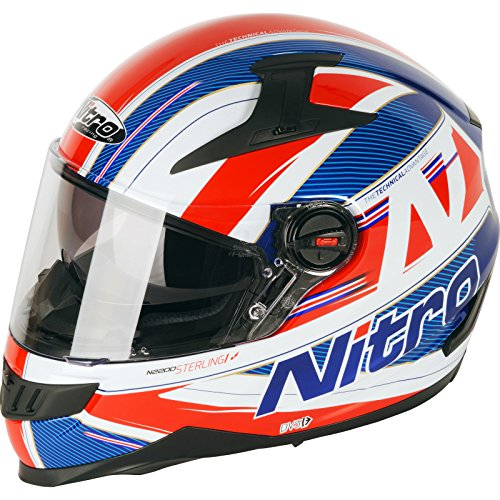187217XL82 - Nitro N2200 Sterling DVS Motorcycle Helmet XL Blue White Red (82)