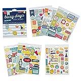 Boxclever Press Busy Days Planersticker, Scrapbook Sticker. 199 Kalender Sticker - Events, Anlässe & Aktivitäten. Goldfolie-, Vinyl- und Gepolsterte Aufkleber für Planer & Bullet Journals