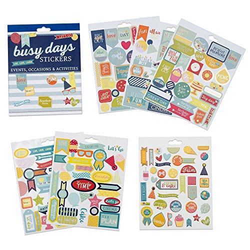 Boxclever Press Busy Days Planersticker, Scrapbook Sticker. 199 Kalender Sticker - Events, Anlässe & Aktivitäten. Goldfolie-, Vinyl- und Gepolsterte Aufkleber für Planer & Bullet Journals (Organisation-boxen)