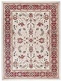 Tapiso Colorado Teppich Wohnzimmer Kurzflor Orientalisch Creme Weiss Rot Ziegler Ornament Muster Traditionell Orientteppich ÖKOTEX 200 x 300 cm