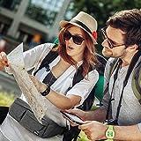 EOTW Gürteltasche für Geld, Reisepass, Flugtickets, Schlüssel und Handys bis 16,51 cm (6,5 Zoll), Praktische Bauchtasche für Reisen, Shoppen, Angeln, Joggen (Grau) - 4