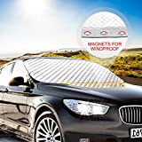 Protezione Parabrezza Auto, Orlegol Copertura Parabrezza Auto Ghiaccio Parabrezza Antighiaccio e Antigelo Anti UV Magnetic Copri Parabrezza Auto Protegge Adatto per SUV (183 x 116cm)