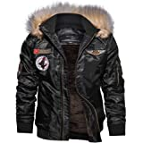 Shuanghao Men's Bomber Military Jackets Mens Jackets Winter Bomber Pilot Army Military Tactical Jacket Mens Outdoor Thick Cot