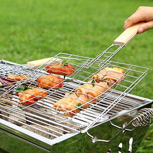 ~ 39,5 21,5 * 18,5 cm BBQ Fisch Griling Grilled Net Barbecue Ordner Clip Mesh-\ Küche Dekorative Ungewöhnlich Trendy SpäTeste Kochen Koch Utensilien Kit Produkte Funky