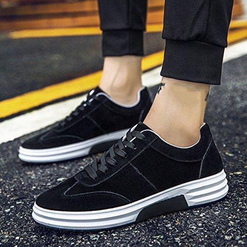 Zapatos De Hombre Feifei Primavera Y Otoño Zapatos Casuales De Moda De Moda Transpirables 3 Colores (tamaño De Opción Múltiple) (color: Negro, Dimensiones: Eu39 / Uk6.5 / Cn40) Negro