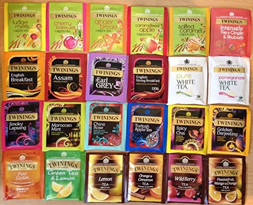 Twinings 20 Assorted Flavours, Fruit, Green Tea, Speciality Tea & Herbal Selection, 100 Individual Envelope Teabags