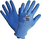 Land-Haus-Shop Kinder Arbeitshandschuhe Gartenhandschuhe Kinder Arbeits Garten Handschuhe blau Bagger