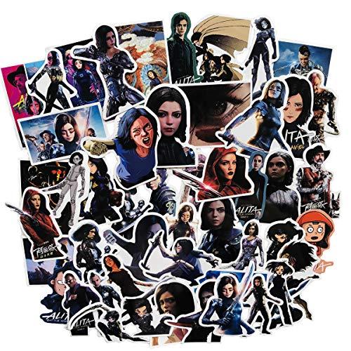 Preisvergleich Produktbild Movie Alita Aufkleber,  Vinyl,  Auto-Aufkleber,  Motorrad,  Fahrrad,  Gepäck,  Graffiti-Patches Skateboard-Aufkleber für Laptop (50 Stück)