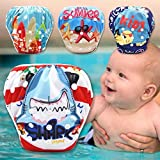 Tinytots One Size Reusable Washable Waterresistant One Size Swim Diapers,Random Color