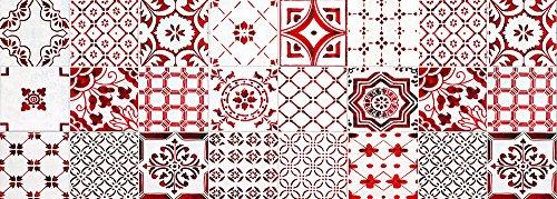 VINILIKO, Alfombra de vinilo, Lisboa, Rojo, 50x140 cm