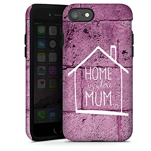 Apple iPhone X Silikon Hülle Case Schutzhülle Muttertag Geschenk Mama Tough Case glänzend