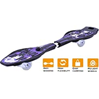 Famous Quality® Wave Board ; Skate Board with Carry Bag LED Flash Colorful Lights on Wheels (Variation Color Design) with Warranty