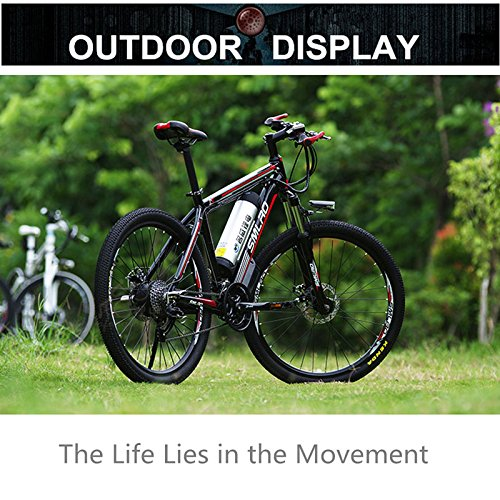 "61KGT5iW8fL. SS500  - 26"" 48V Lithium Battery Aluminum Alloy Electric Assisted Bicycle, 27 Speed Electric Bike, MTB/Mountain Bike,adopt Oil Disc Brakes,Pedelec."