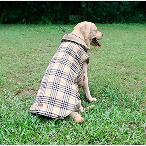 Haustiere im Herbst und Winter Kleidung auf beiden Seiten zur verfügung, Karierten Jacke, Wasserdichte Kleidung Hund golden Retriever Hund,s