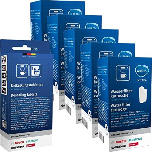 5 x Bosch Siemens 17000705 Brita Intenza & 1 x 00311821 Pastilles détartrantes Bosch Siemens