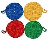 Springseile, 4er Set, 2,80 m, Ø 8 mm, rot, gelb, grün, blau - Universalseil Sprungseil Hüpfseil Seilspringen Springschnur Rope Skipping Gymnastikseil