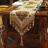 moderne Tischläufer Flaggen der Europäischen Stil Luxus Esstisch Side Cabinet Läufer Tisch TV-Läufer Abdeckung Tuch-A 30x220cm(12x87inch)
