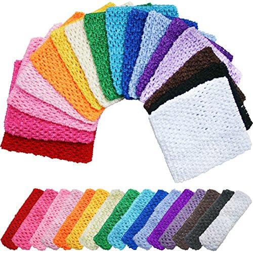 TTS Crochet Tube Top Infant Kleid Elastischer Bund Stirnband Tutu Vorräte für Baby Mädchen 16Farben, Crochet-Baby Pink, Crochet tube 7