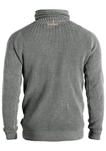 INDICODE Tristen - Pull en Maille- Homme Iron (920)