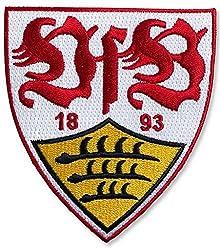 Aufnäher VfB Stuttgart Wappen - 8 x 8 cm + gratis Aufkleber, Flaggenfritze®