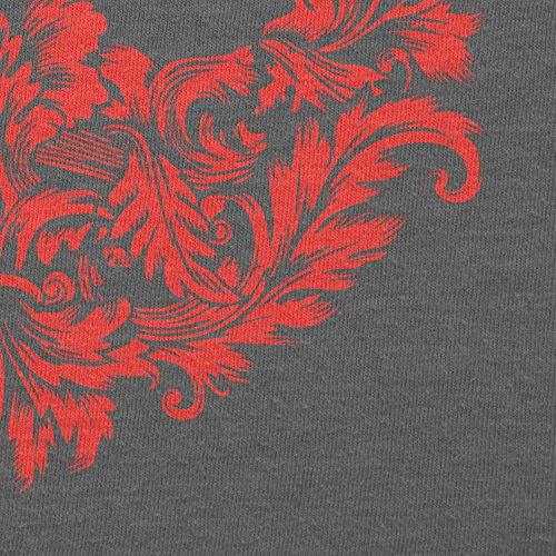Texlab–Floral Rebel Logo–sacchetto di stoffa Grau