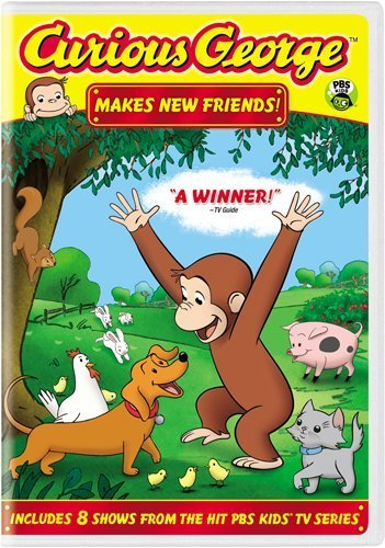 Curious George Makes New Friends by Frank Welker (George-dvd Curious)