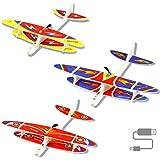 Herefun Aeromodello Aliante per Bambini, 3 Pezzi Aerei Alianti Volanti, Manuale Alianti Bambini Aereo Outdoor Aliante, Regalo