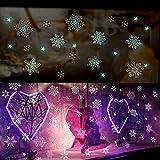 Pegatinas copo de nieve de Navidad Etiqueta pegatinas de Navidad pegatinas de pared pegatinas de cocina 1-Pack LCL La entrega al azar Feliz Navidad y Feliz Año Nuevo