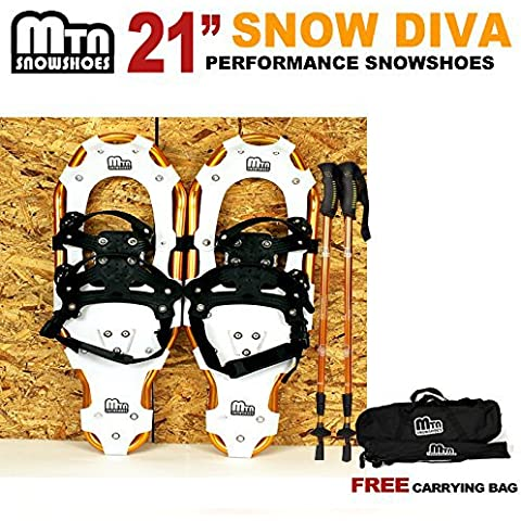 New MTN Man Woman Kid Youth 21 Gold Snowshoes +