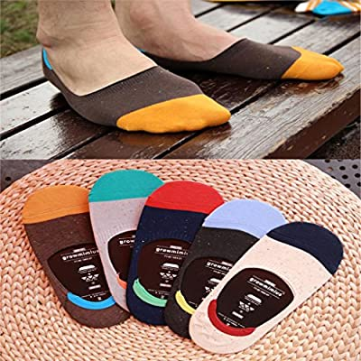 CONNECTWIDE-Loafer Socks: Unisex Striped No Show Loafer Socks (Designs May Vary- Grey Colors),1 Pair, Size;(23 * 9 * 2 cm)