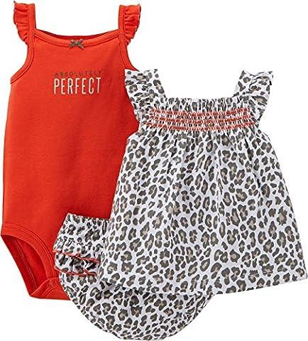 Carter's 3-Piece MIX 'N MATCH Baby/Toddler Girls Bodysuit & Dress Set (12 Months)