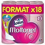 Lotus Moltonel - Papier toilette 3 épaisseurs Rose - 18 rouleaux