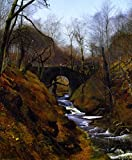 ODSAN Ghyll Beck, Barden, Yorkshire - By John Atkinson Grimshaw - impressions sur toile 24x29 pouces - sans cadre