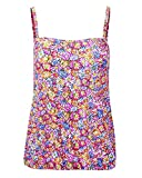 Cotton Traders Womens Ladies Blouson Tankini Top Soft Cups Strapless Swimwear Daisy Print 20