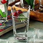 JRP Mart Crystal Clear Transparent Water & Juice Glasses (Set of 6)