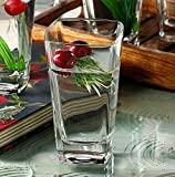 #7: JRP MART's CLEAR CRYSTAL 6 Glass Set 300 ml (Set of 6 Crystal Glasses) for WHISKY/JUICE/COCKTAIL/WATER
