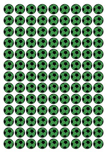 117 Aufkleber, Fußball, Sticker, 20 mm, grün/schwarz, aus PVC, Folie, bedruckt, selbstklebend, EM, WM, Bundesliga