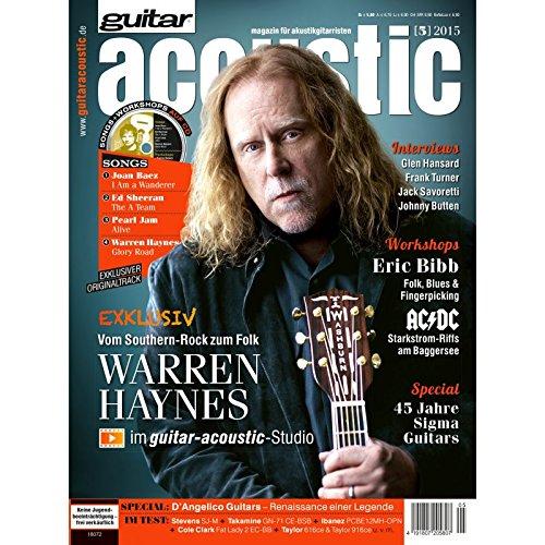 guitar acoustic 5 2015 mit CD - Warren Haynes - Interviews - Akustikgitarre Workshops - Akustikgitarre Playalongs - Akustikgitarre Test und Technik - Akustikgitarre Noten