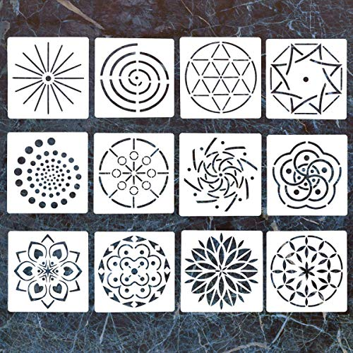 LORDWEY Rock Malstift, Punktpunktwerkzeuge für Mandala-Steinmalerei, Malen, Zeichnen und Zeichnen, für Kinder, Nagelkunst, Malerei 12 ()
