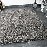 Prime Shaggy Teppich Farbe Anthrazit Hochflor Langflor Teppiche Modern für Wohnzimmer Schlafzimmer - VIMODA, Maße:70x250 cm
