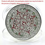 zijianZZJ Gedenkmünze, seltene plattierte Prophezeiung Maya Aztec Kalender Kollektion Gedenkmünze Geschenk