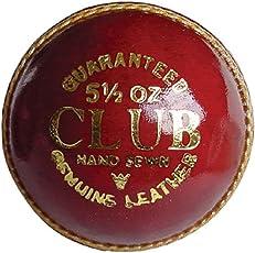 QUINERGYS Cricket Ball 4-Piece Crown Prince A Mens 156g (5.5oz) Cricket Match Ball Googley Test Waterproof