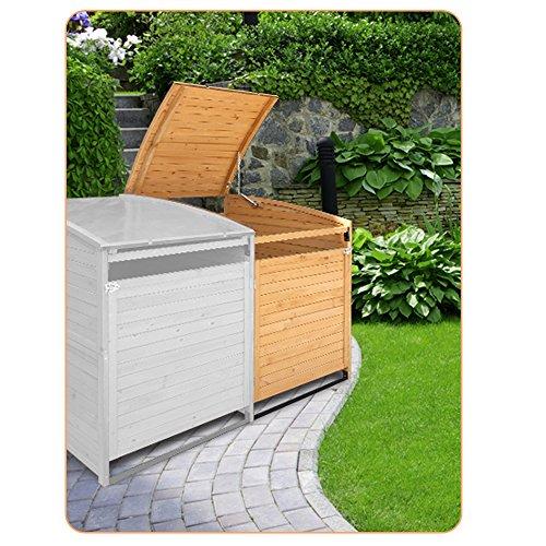 Mülltonnenbox Holz 240 L Gartenbox Mülltonnenverkleidung Mülltonne (Anbaubox 240L) - 4